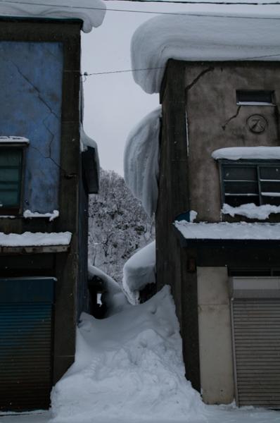 はみ出し雪