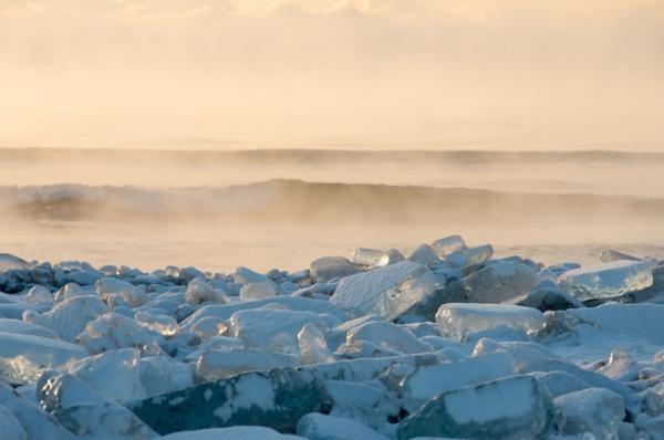 大津の朝氷
