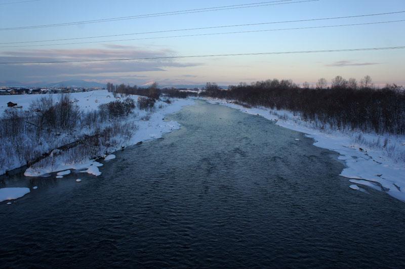 160105石狩川の夕方