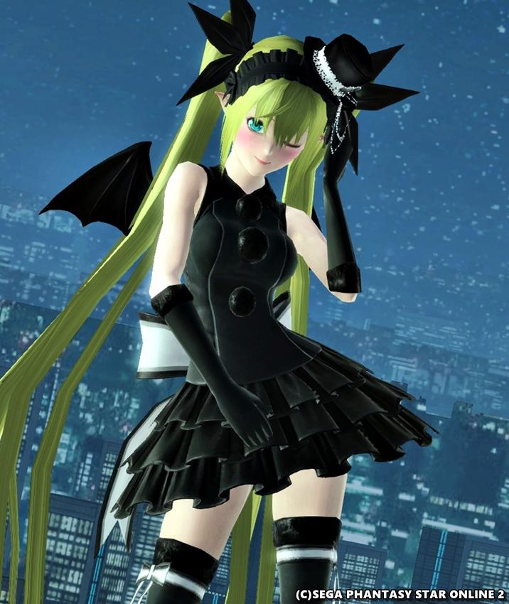 黒いドレスでバチコーン☆