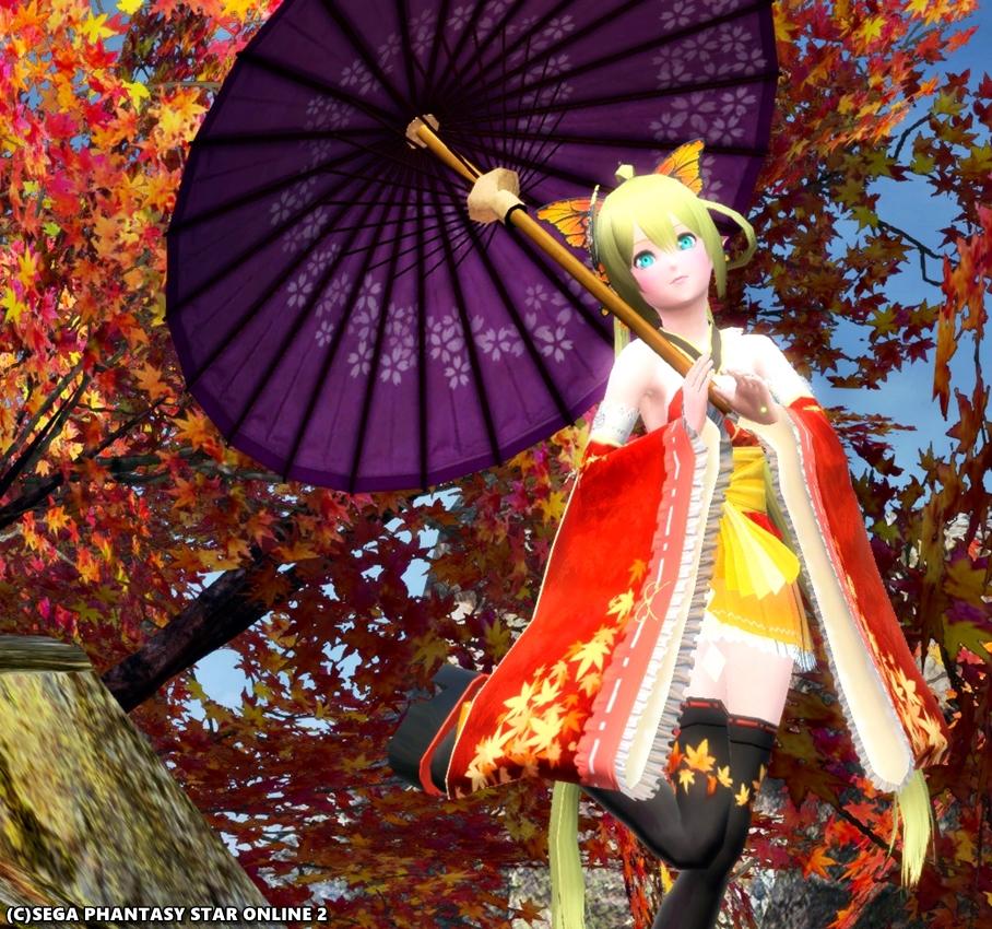 冬の季節の照紅葉♪ キリカ・レプカ紅葉