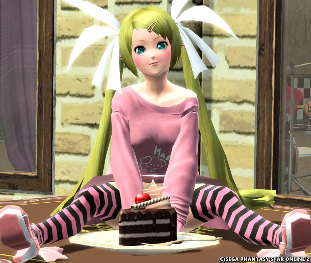 ねぇねぇ?このチョコケーキ食べていいの~♪