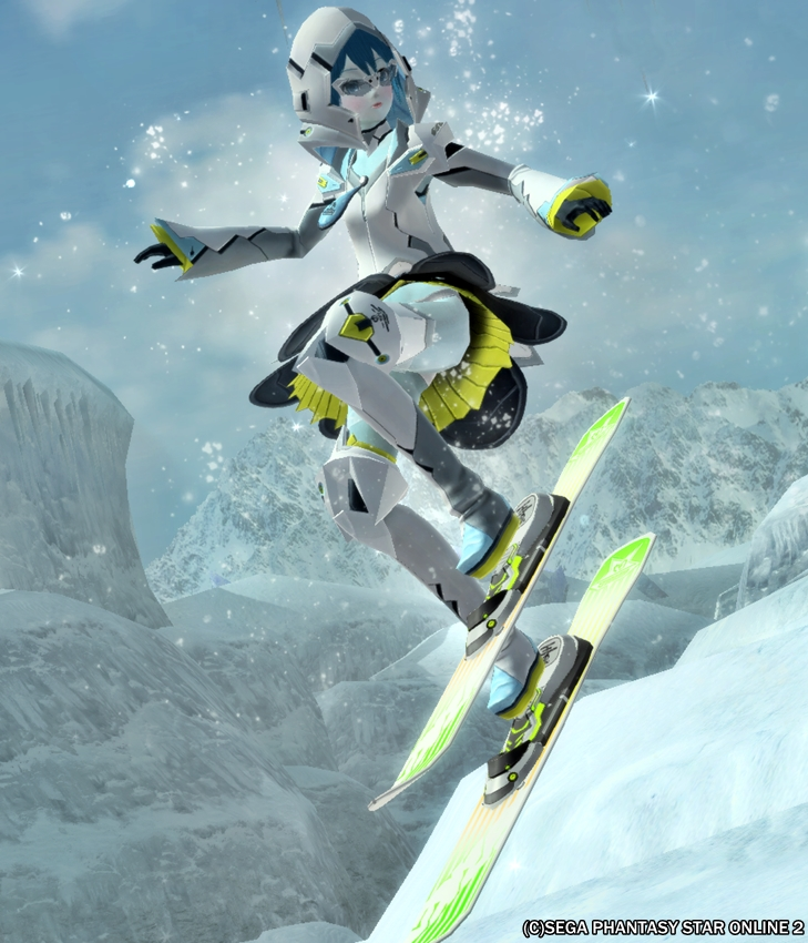 アクエリアスタイルスピードスキーヤー!
