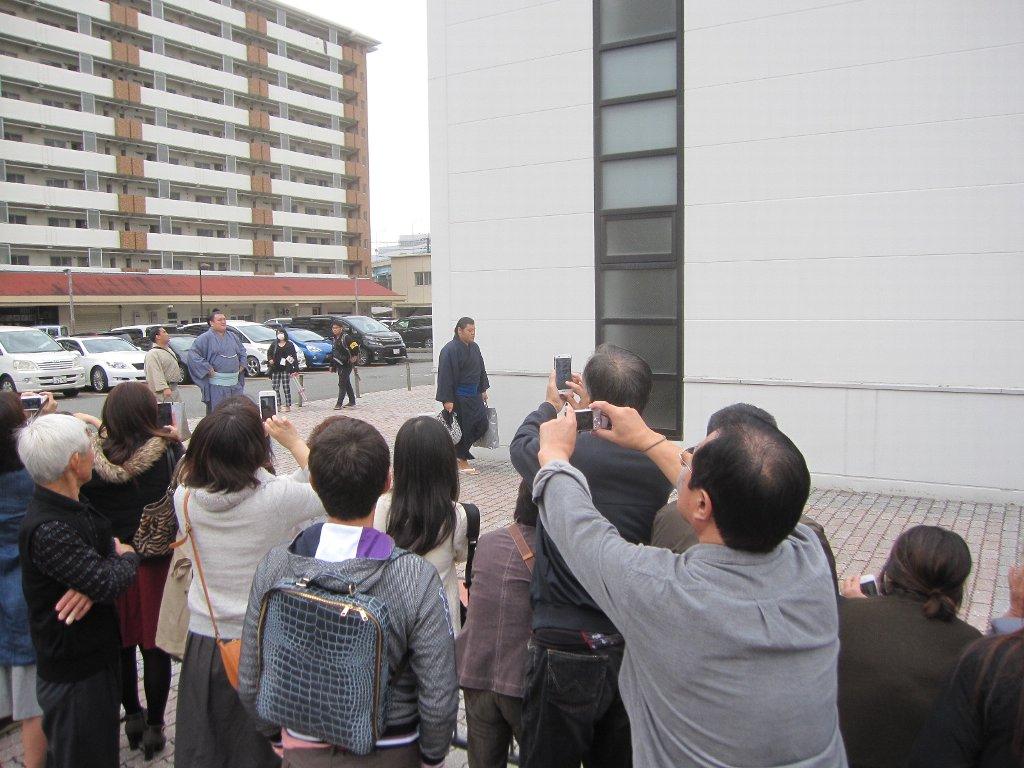 大相撲平成27年11月場所入り待ち