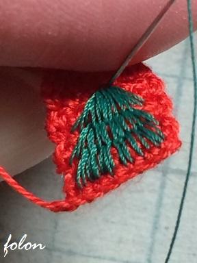 ツリー刺繍♪