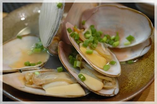 白貝の酒蒸し