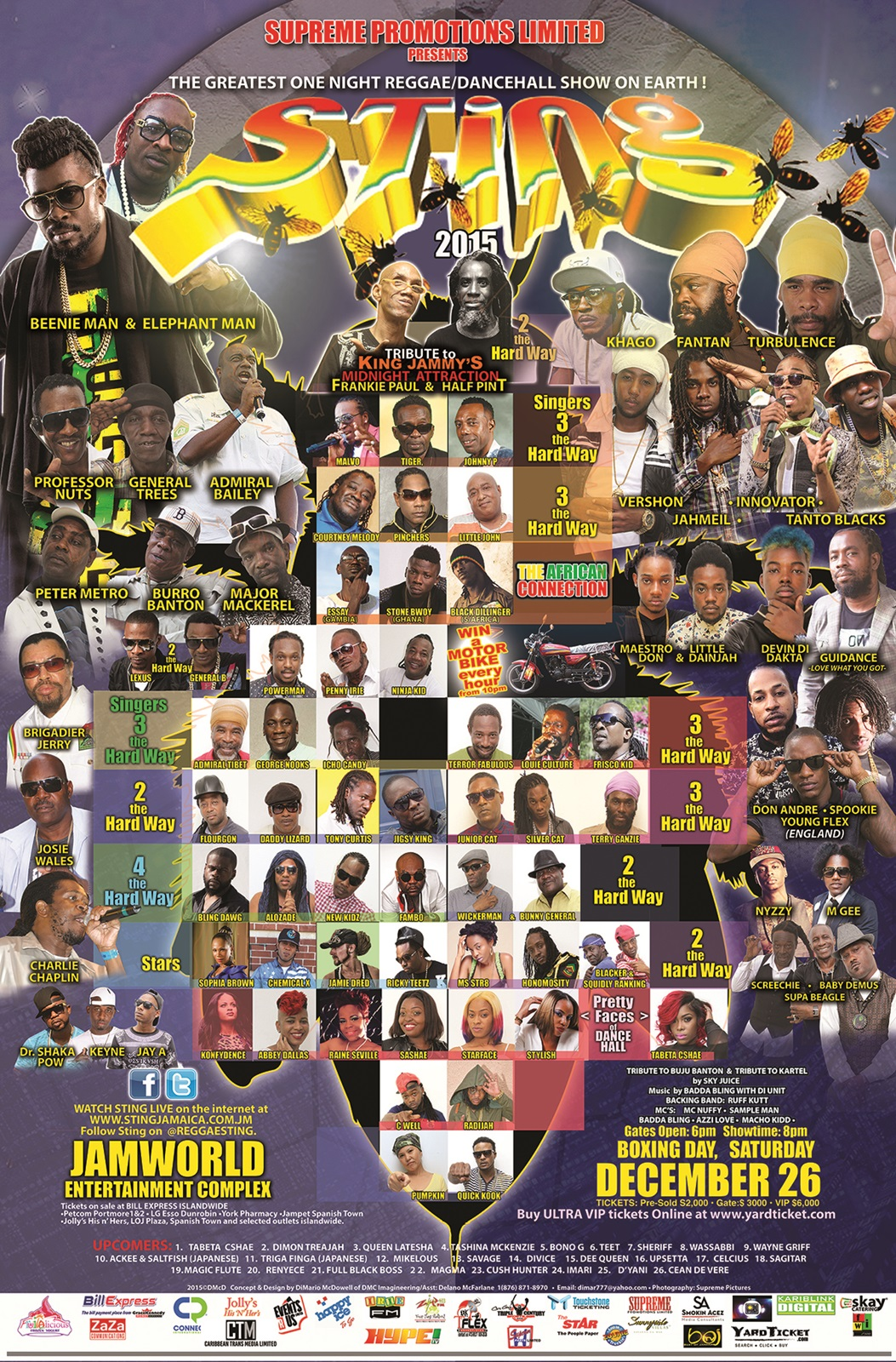 Reggae Sting 2015 poster スティング レゲエ