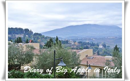 Italyの小高い丘から
