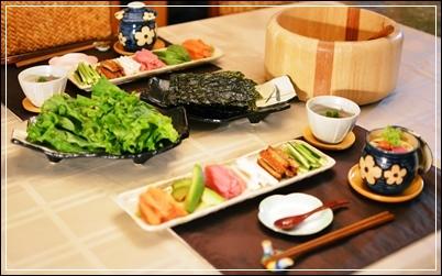 残り物整理で手巻き寿司