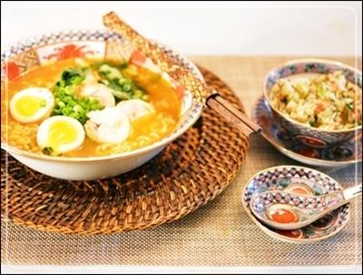 鶏チャーシュー&半熟卵