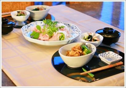 鮃のお刺身で夕飯