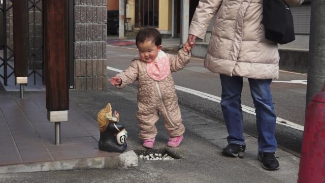 飛騨古川の狸さんに
