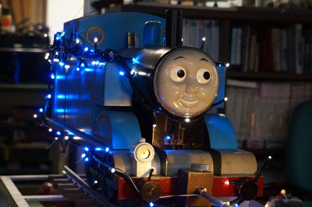 青い汽車のイルミネーション