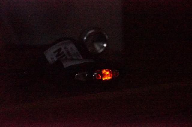 懐炉発熱中の酸化触媒の様子