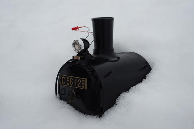 雪の中の生首