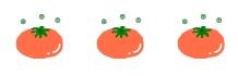 3つのオレンジw