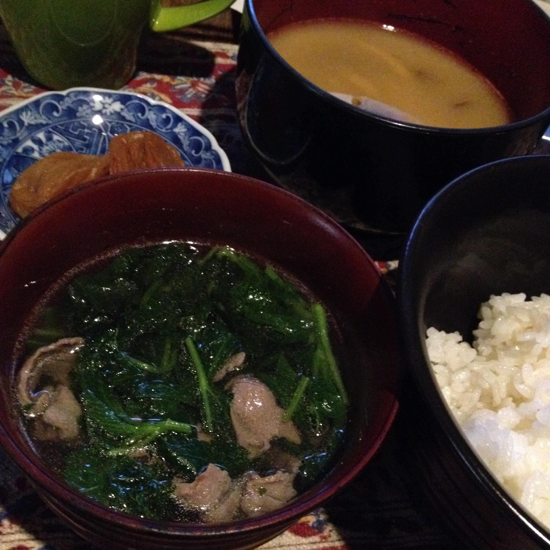 ラム肉のスープ