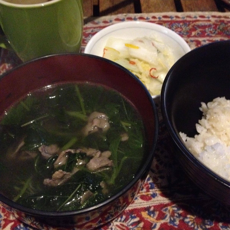 ラム肉スープ定食