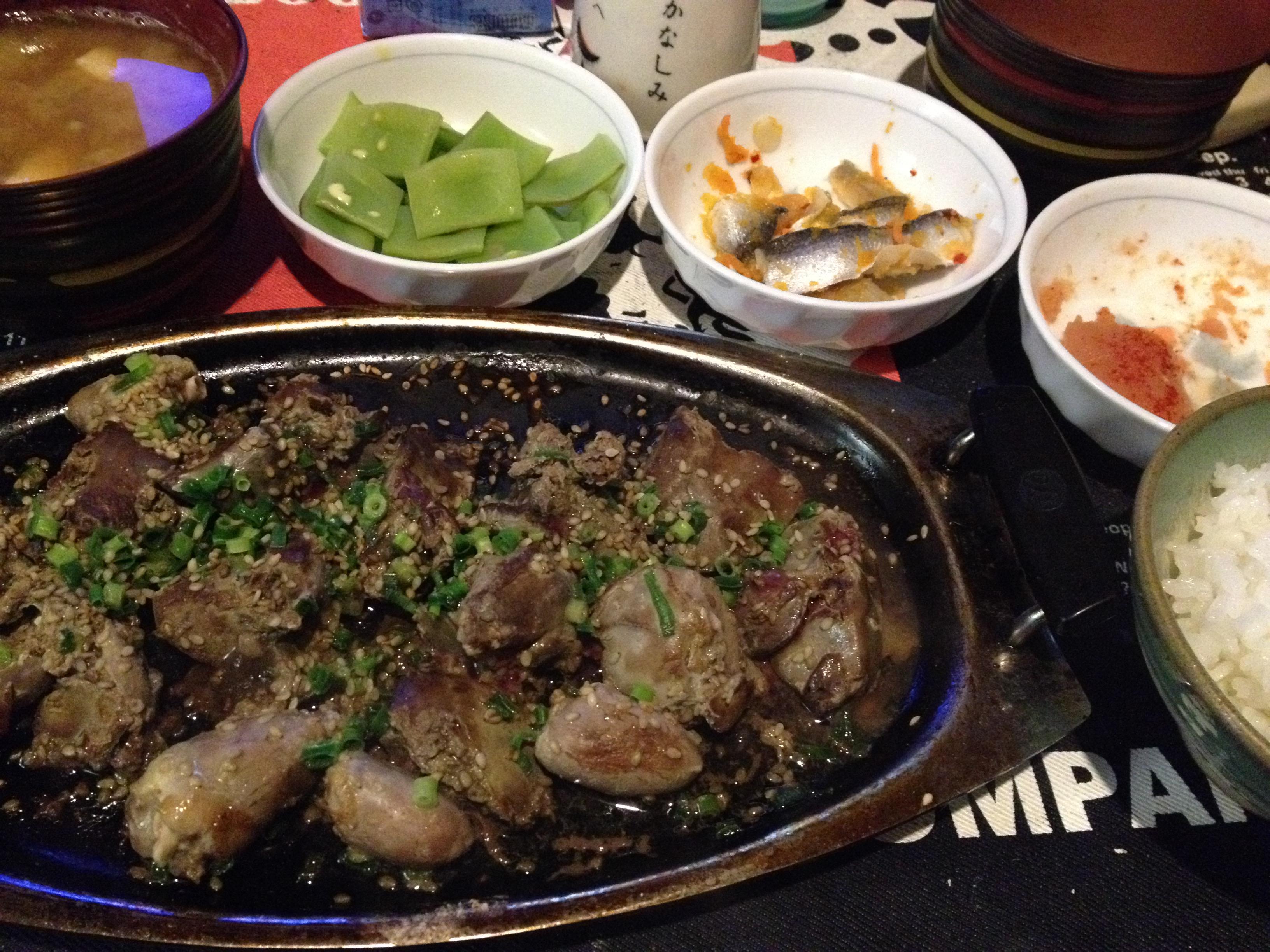 純輝鶏レバ焼定食