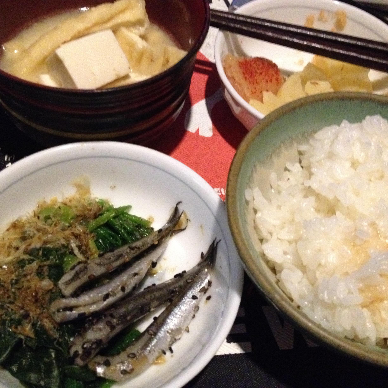 鰯酢漬定食