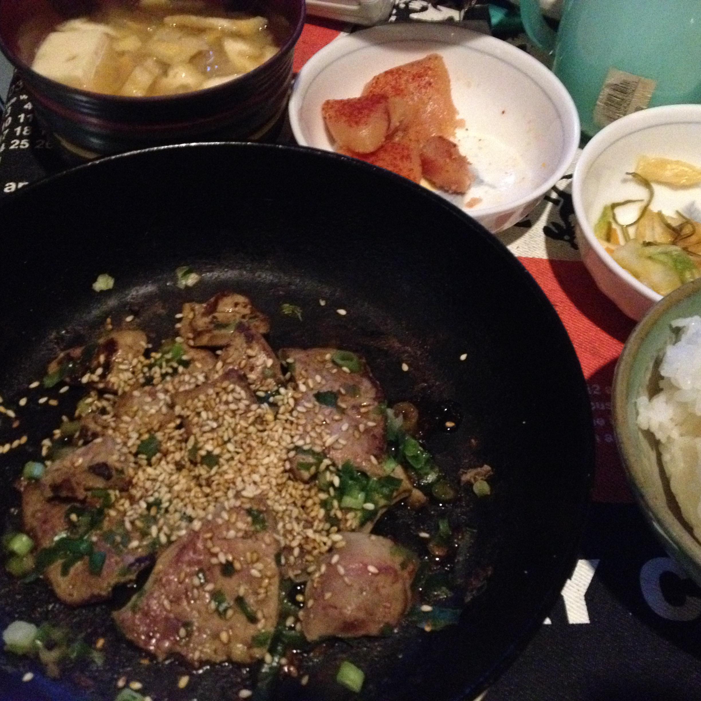 牛レバ炒め定食