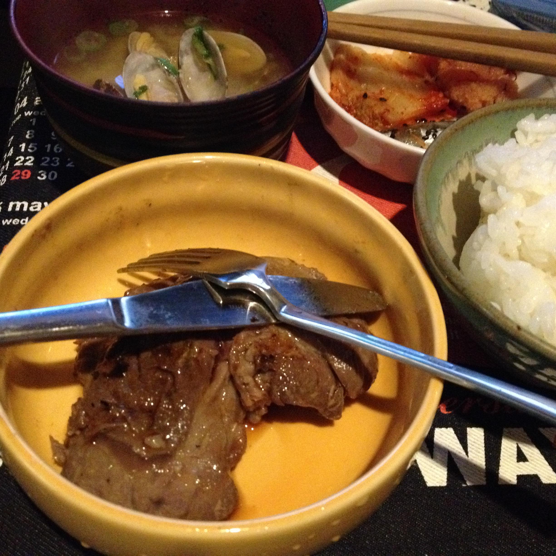 鮪頬肉ステーキ定食