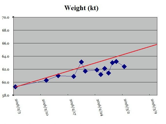 重さの推移