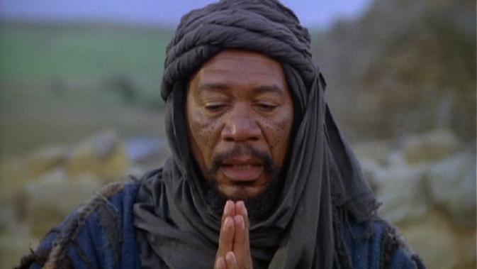 rhpot-Morgan Freeman pray