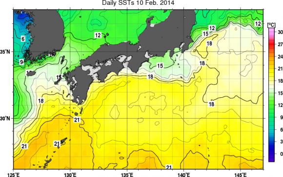 2月の海水温