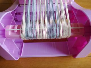 織り出し棒を経糸を張るのに利用