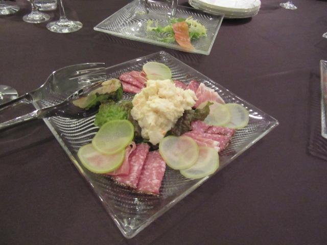 お料理2生ハムのサラダ