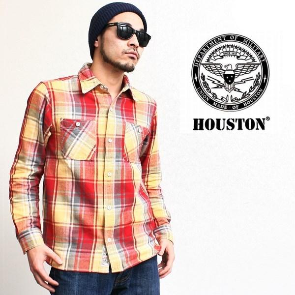 2016-02-08 コットンチェックビエラ長袖ワークシャツ ヒューストン 1