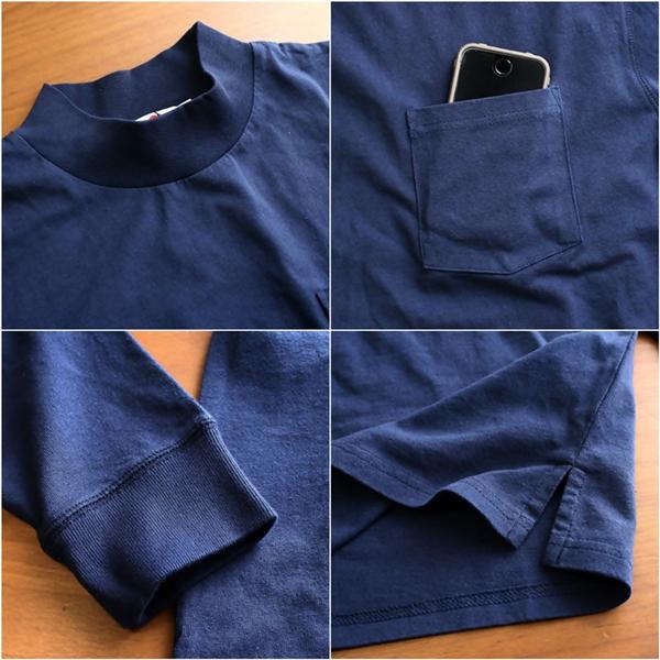 2016-02-22 USコットンモックネックポケット付き長袖Tシャツ FRUIT OF THE LOOM フルーツオブザルーム 8