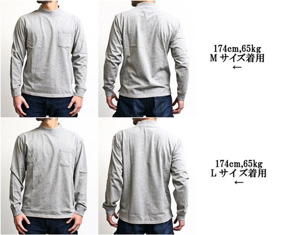 2016-02-22 USコットンモックネックポケット付き長袖Tシャツ FRUIT OF THE LOOM フルーツオブザルーム 6