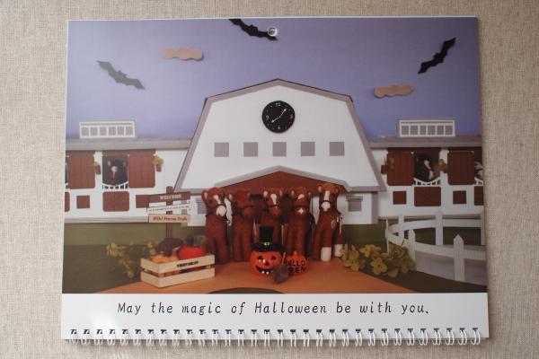 卓上カレンダー 10月