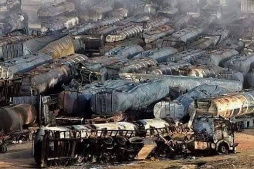 500台のタンクローリー