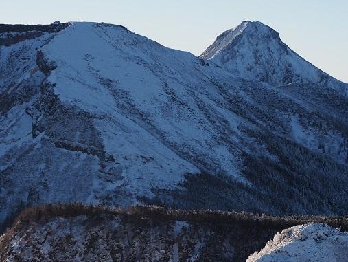 硫黄岳と赤岳