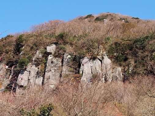 湯河原幕岩正面壁
