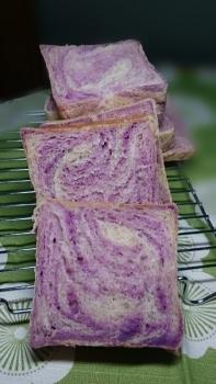 20160131紫いも折り込みパンbyレーズン酵母2