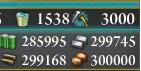 E-1 終了時の資源