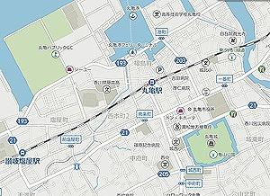 丸亀城の地図