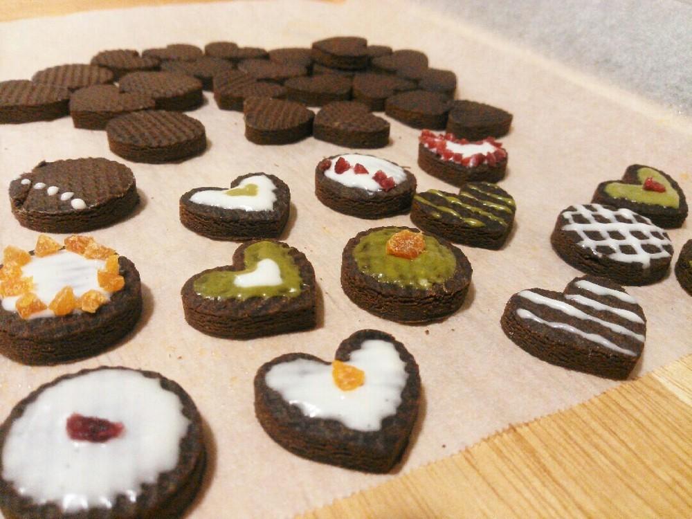 バレンタインクッキー作り方1