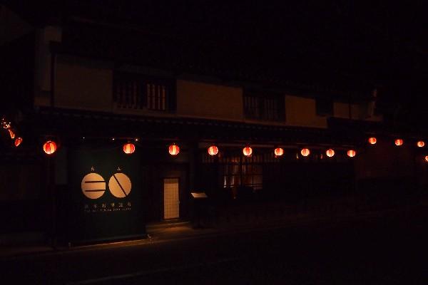 竹田駅前の通り 祭りの夜