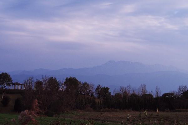 石鎚山を遠望