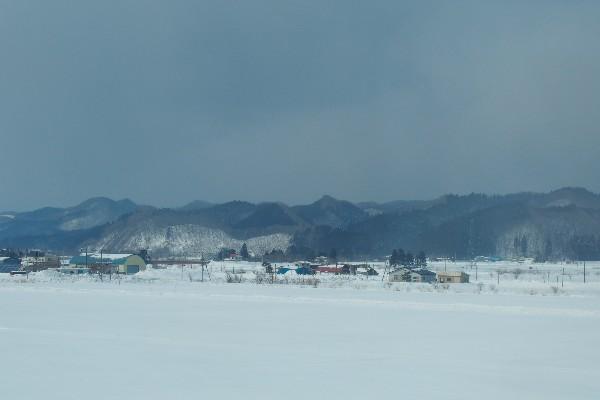 津軽海峡線 車窓からの雪景色