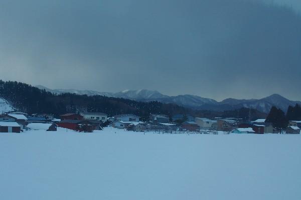 東北新幹線 車窓からの雪景色
