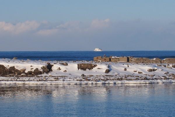 オホーツク海のおーろら