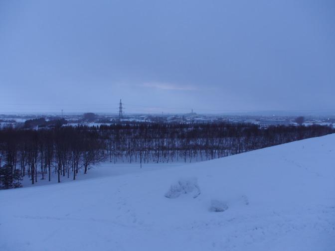 モエレ山から東の空を望む