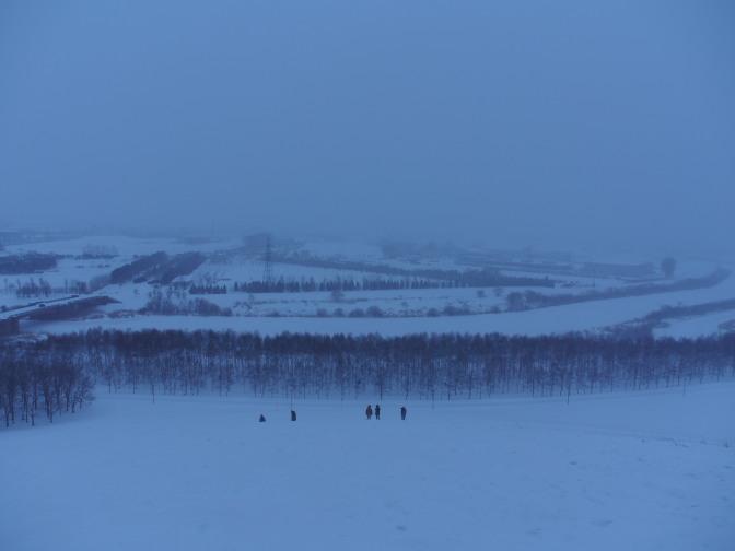 雪が降ってきた…