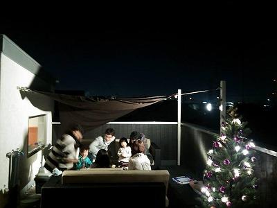 屋上でクリスマス005